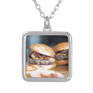 Burgers Silver Plated Necklace