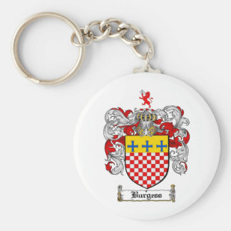 BURGESS FAMILY CREST -  BURGESS COAT OF ARMS KEYCHAIN