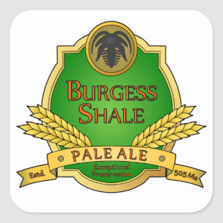 Burgess Shale Pale Ale Square Sticker