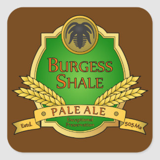 Burgess Shale Pale Ale Sticker Square Sticker