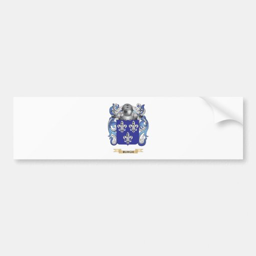 Burgh Coat of Arms (Family Crest) Car Bumper Sticker