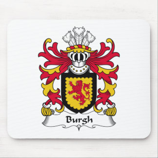 Burgh Family Crest Mouse Pad