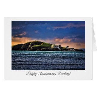 Burgh Island, Bigbury, Devon - Happy Anniversary Card