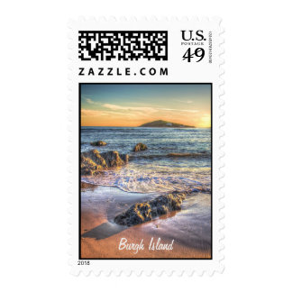 Burgh Island from Bantham at Sundown... Postage Stamps