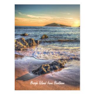 Burgh Island from Bantham at Sundown... Postcard
