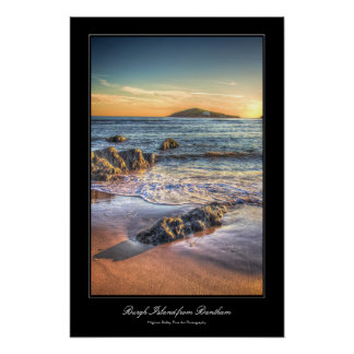 Burgh Island from Bantham at Sundown... Poster