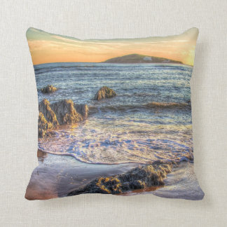 Burgh Island from Bantham at Sundown... Throw Pillow
