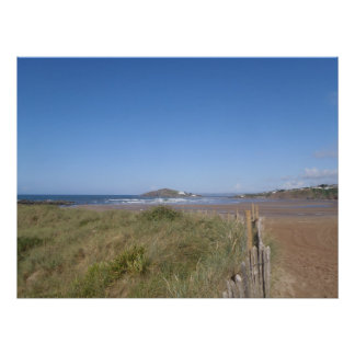 Burgh Island View From Bantham Beach Poster