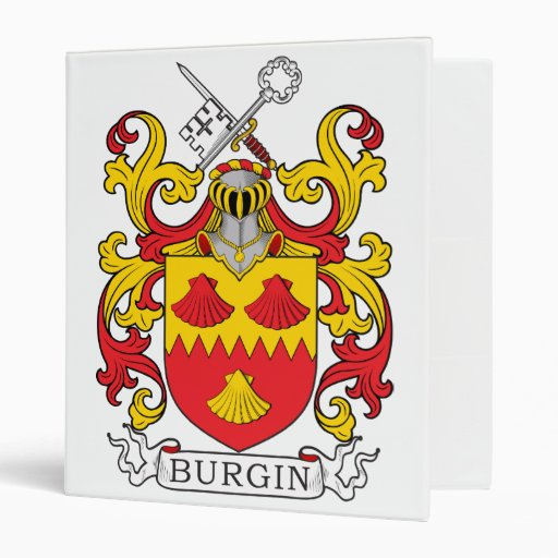 Burgin Family Crest 3 Ring Binders