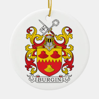 Burgin Family Crest Ceramic Ornament