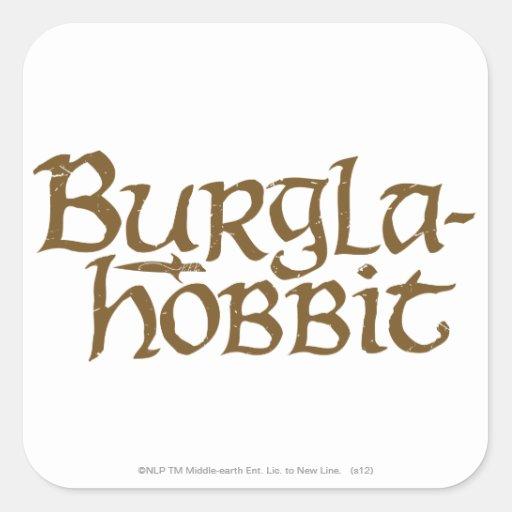 Burgla Hobbit Pegatina Cuadrada