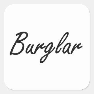 Burglar Artistic Job Design Square Sticker