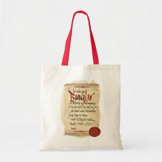 Burglar Contract Budget Tote Bag