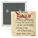 Burglar Contract Button