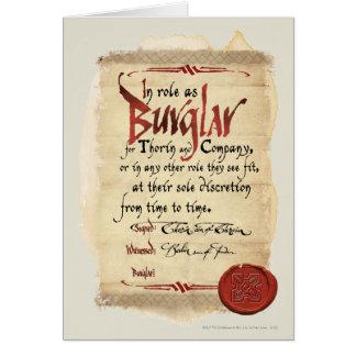 Burglar Contract Card