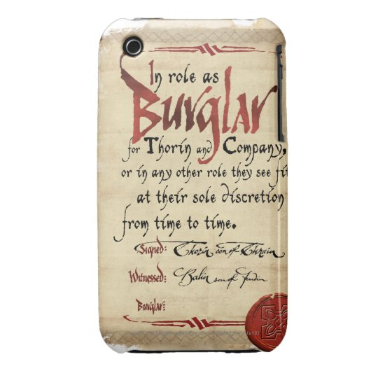 Burglar Contract Case-Mate iPhone 3 Case