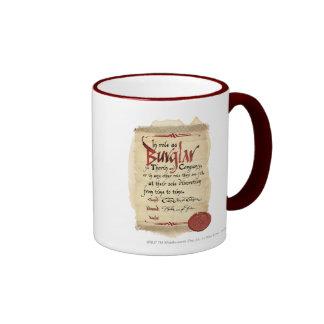 Burglar Contract Ringer Coffee Mug