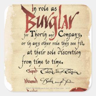 Burglar Contract Square Sticker
