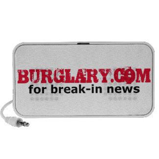 Burglary.com para las noticias de adaptación iPod altavoz