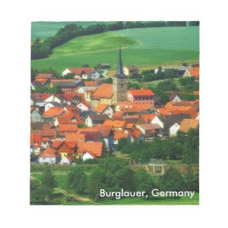 Burglauer, Germany Notepad