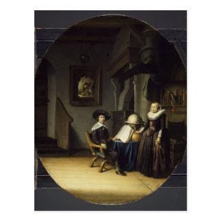 Burgomaster Hasselaar and His Wife by Gerrit Dou Postcard