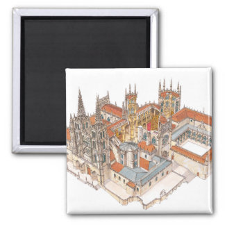 Burgos Cathedral. Spain 2 Inch Square Magnet