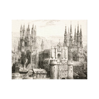 Burgos Cathedral Spain Castle Gothic Spire Vintage Canvas Print