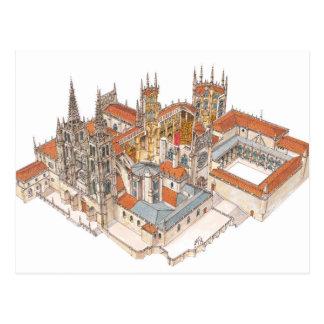 Burgos Cathedral. Spain Postcard