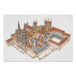 Burgos Cathedral. Spain Poster