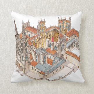Burgos Cathedral. Spain Throw Pillow