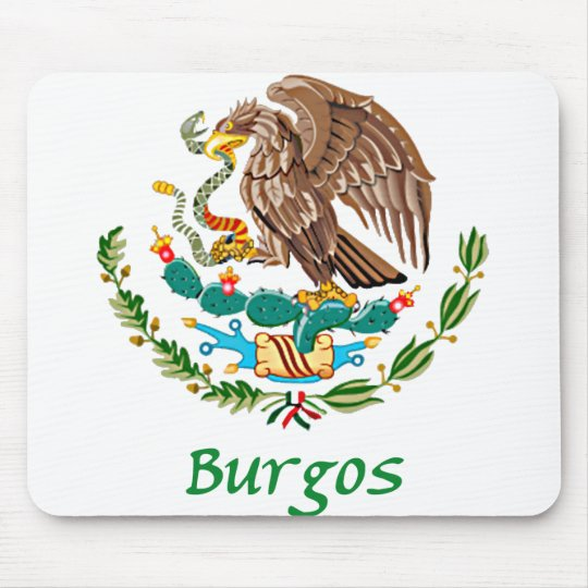 Burgos Mexican National Seal Mouse Pad