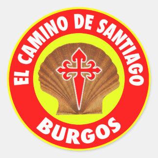 Burgos Pegatina Redonda