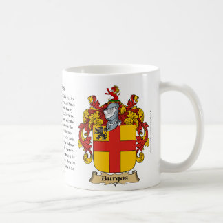 Burgos, the Origin, the Meaning and the Crest Coffee Mug