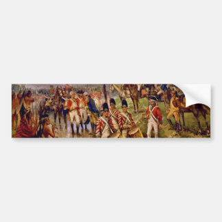 Burgoyne's Surrender at Saratoga by Percy Moran Bumper Sticker