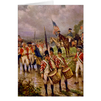 Burgoyne's Surrender at Saratoga by Percy Moran Card