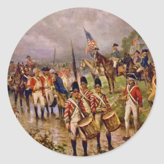 Burgoyne's Surrender at Saratoga by Percy Moran Classic Round Sticker
