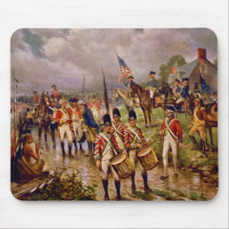 Burgoyne's Surrender at Saratoga by Percy Moran Mouse Pad