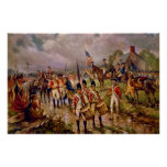 Burgoyne's Surrender at Saratoga by Percy Moran Posters