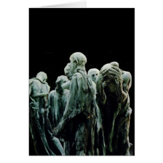 Burgués de Calais - Rodin de Les Tarjeta