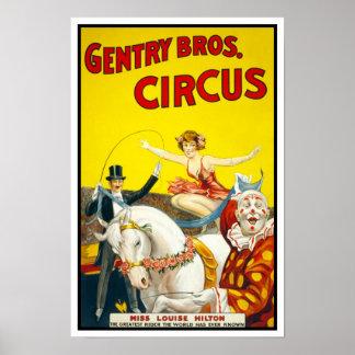 Burguesía alta Bros. Circus, 1920 Poster