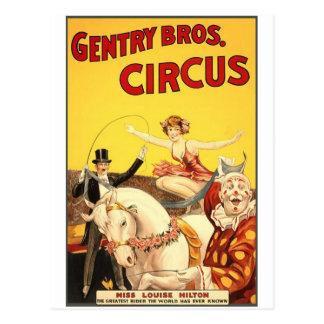 Burguesía alta Bros. Srta. Louise Hilton del circo Tarjetas Postales