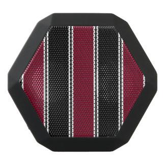 Burgundy and Black-Striped Bluetooth Speaker