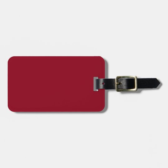 Burgundy and Blue Luggage Tag