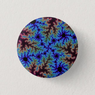 Burgundy and Blue Speckle Button
