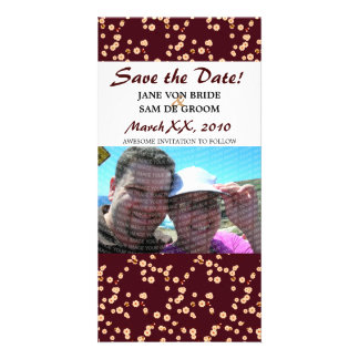 Burgundy and Cream Cherry Blossoms Save The Date Card