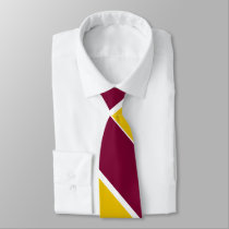 Burgundy and Gold Broad University Stripe Tie