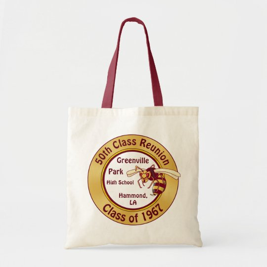 30e73af3b86c Burgundy and Gold Class Reunion Gift Ideas, Totes | Zazzle.com