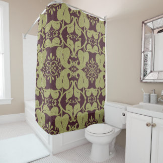 burgundy and gold shower curtain. Burgundy And Gold Modern Pattern Shower Curtain Curtains  Zazzle