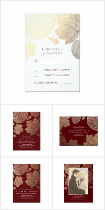 Burgundy and Gold Wedding Collection