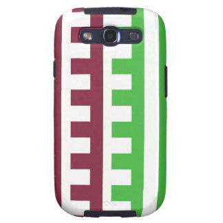 Burgundy and Green Combs Tooth Samsung Galaxy S3 Cases
